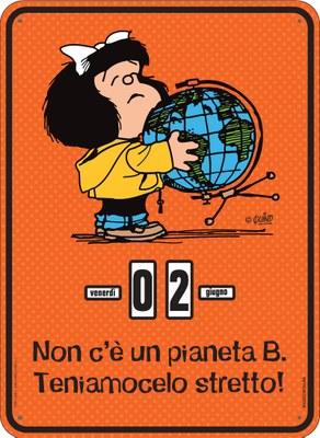 Calendario perpetuo. Mafalda - Pianeta B