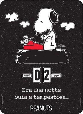 Calendario Perpetuo. Peanuts - Era una notte... black