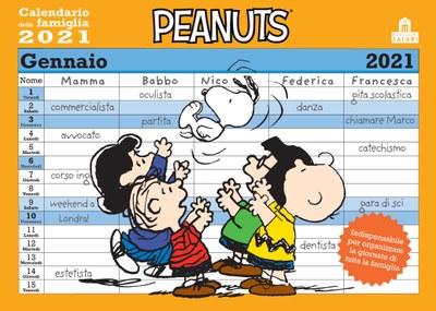 Peanuts. Calendario della famiglia 2021